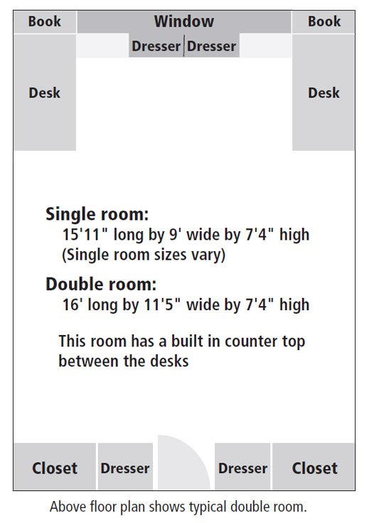 Cumberland Hall room floor plan