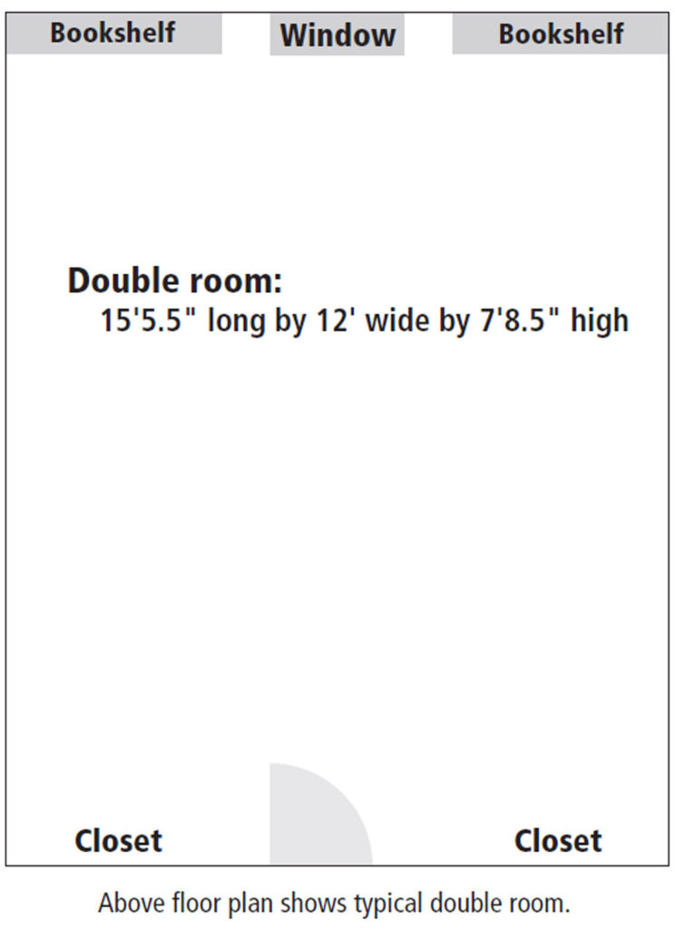Oxford Hall room floor plan