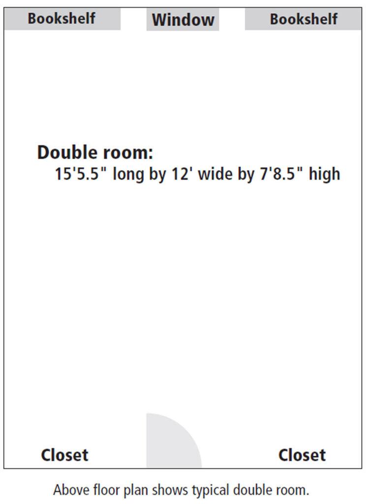 Somerset Hall room floor plan