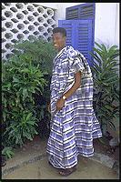 man wearing kente