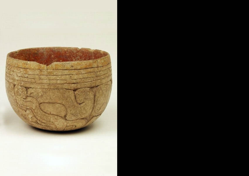 Painted incised bowl, Classic (?)