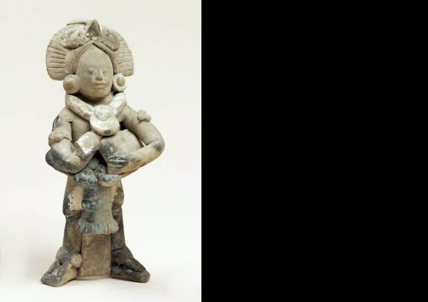 Painted ceramic figurine, Late Classic Jaina