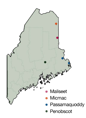 Tribal Map Hudson Museum University Of Maine