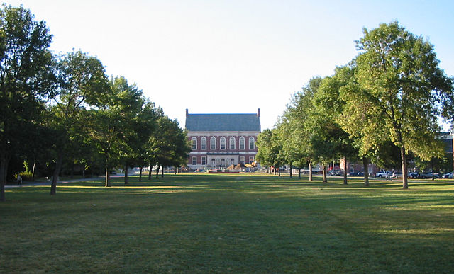 The Mall and Fogler Library, UMaine