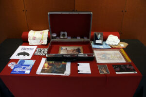 Brief case of collected art pieces