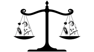 Microbes on Scales of Justice