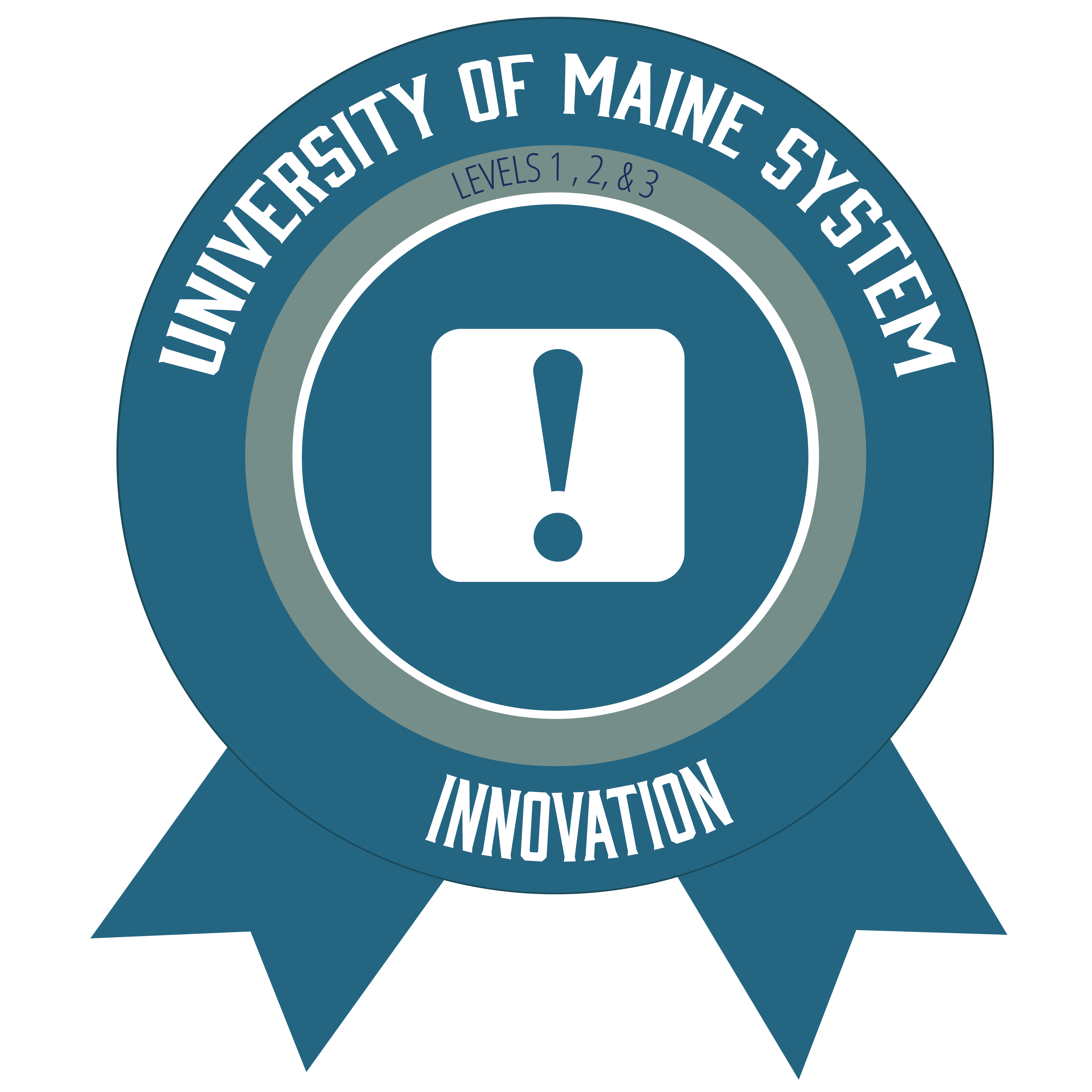 badge icon with text university of maine system innovation