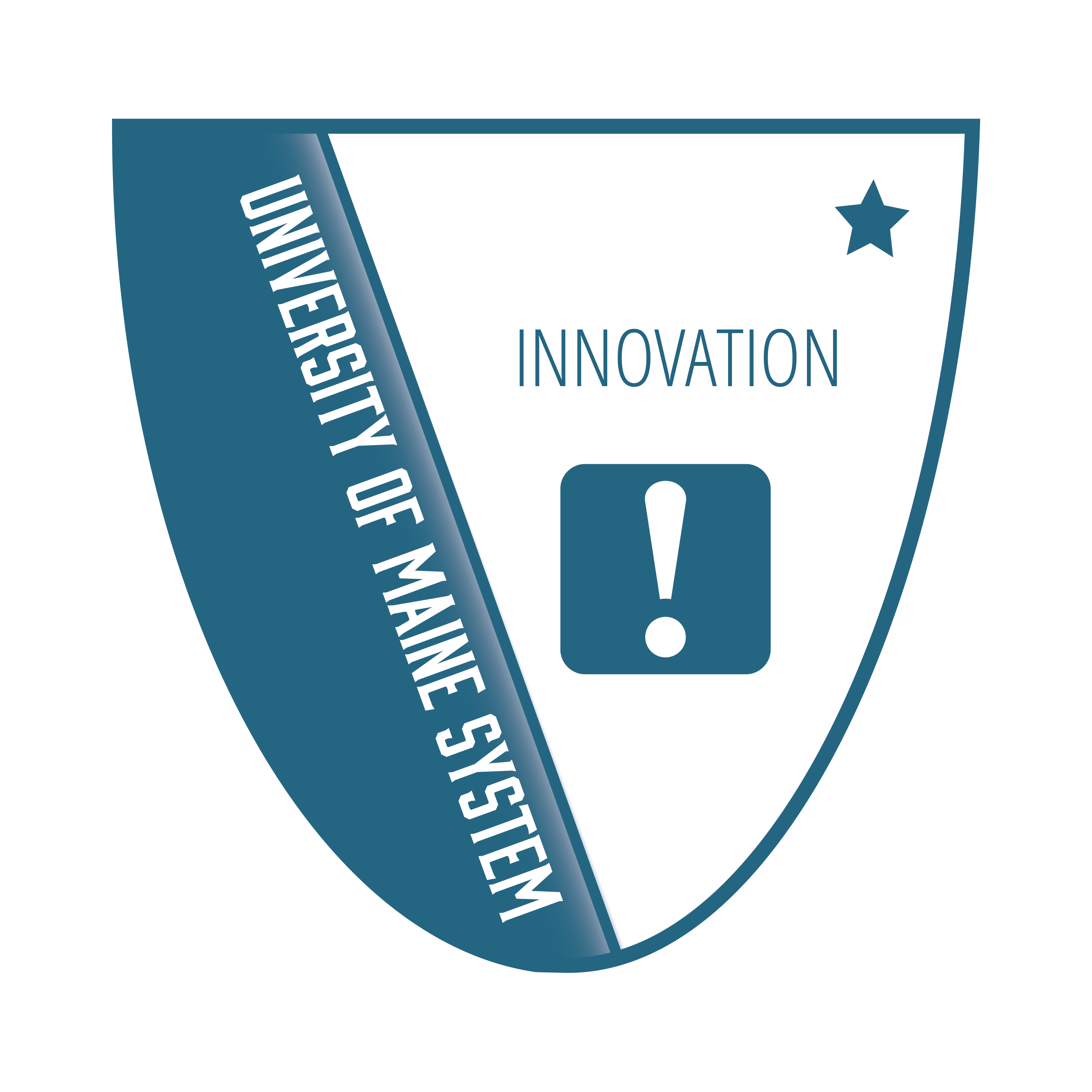 Badge icon with text University of Maine Innovation Level 1
