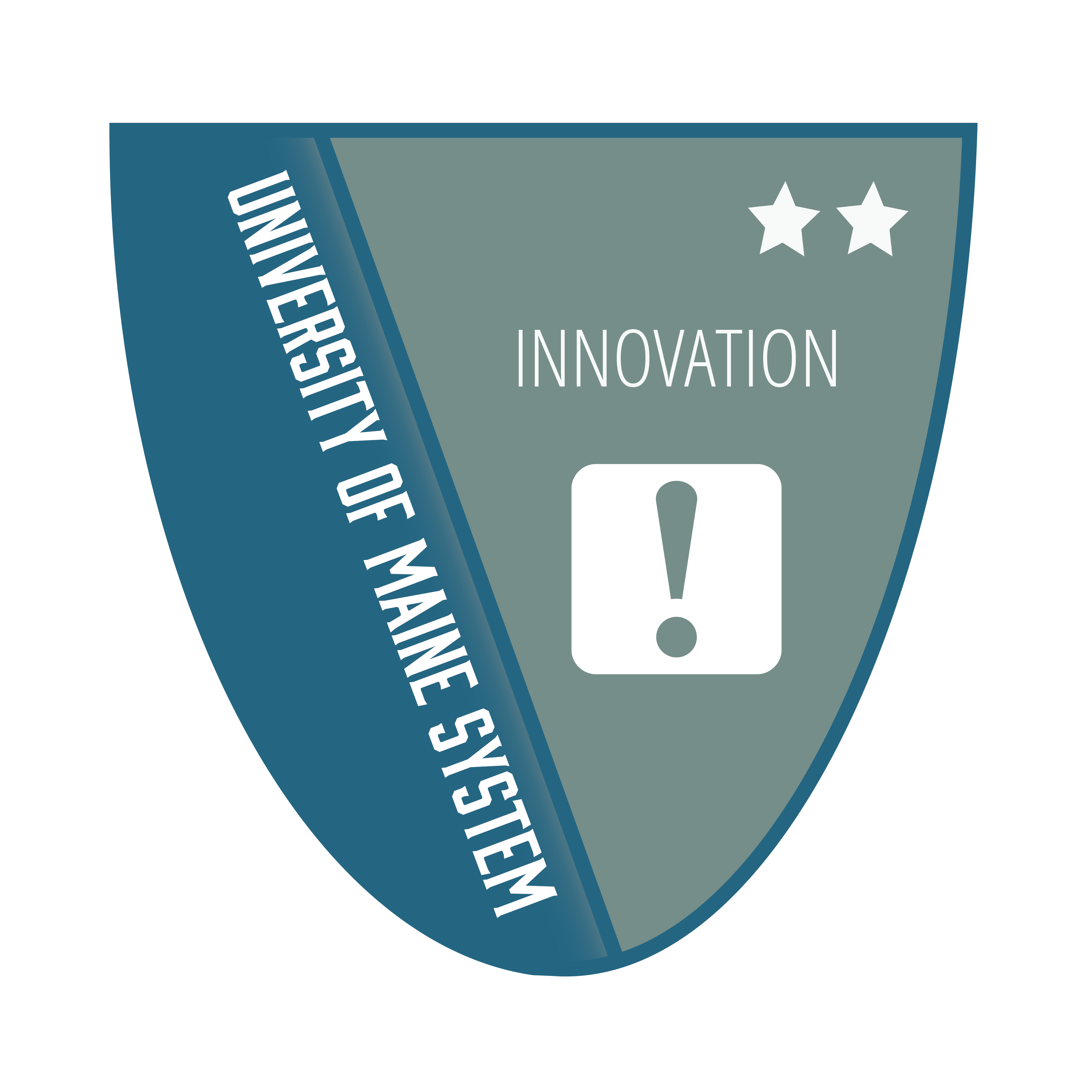 Badge icon with text University of Maine Innovation Level 2