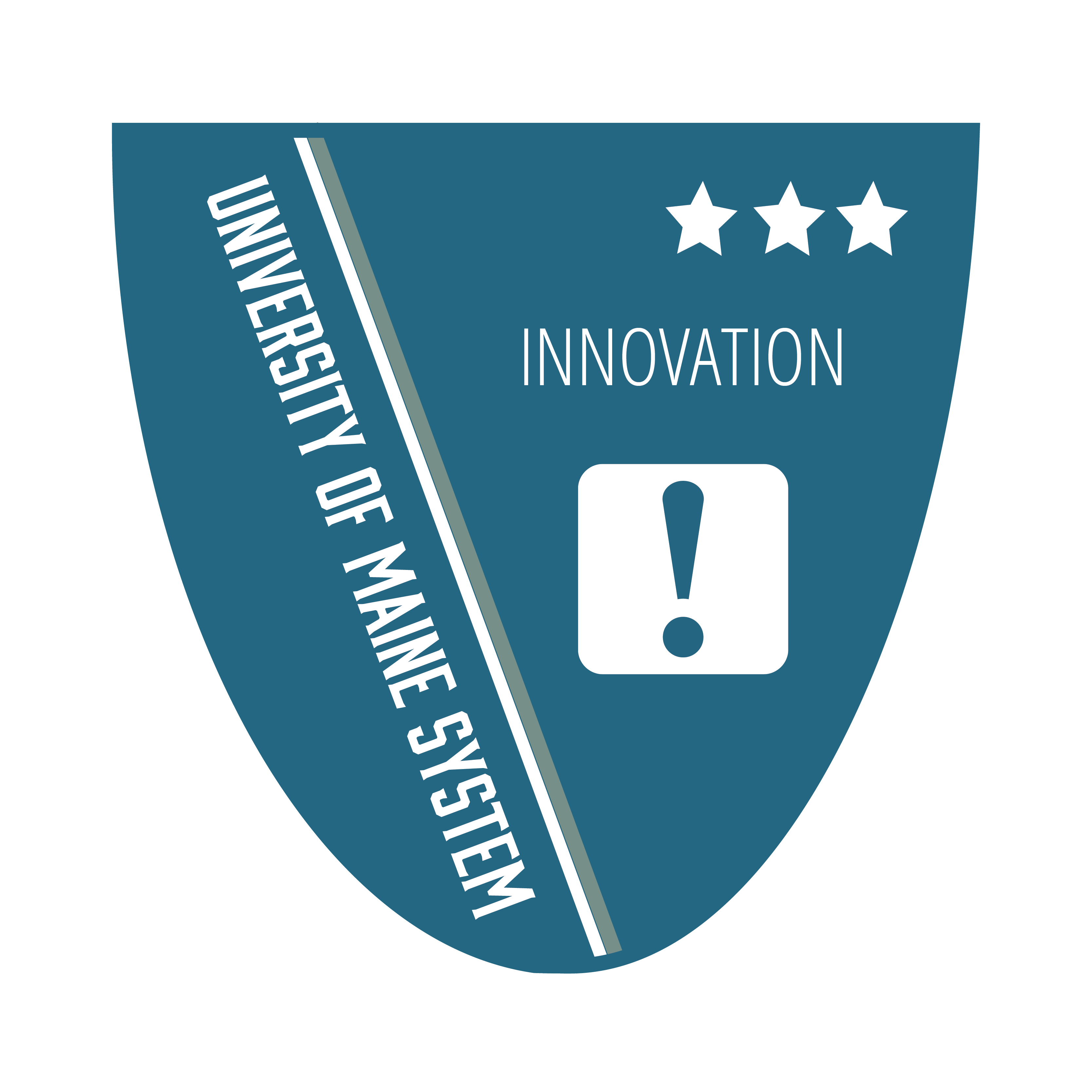 Badge icon with text University of Maine Innovation Level 3