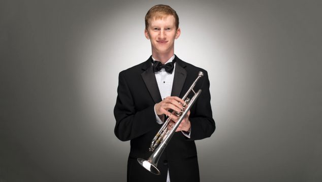 photo of kyle goupille with trumpet