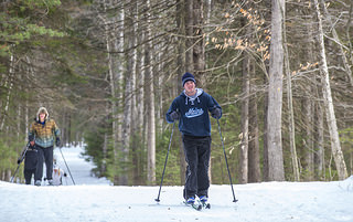 Students cross country skiing.