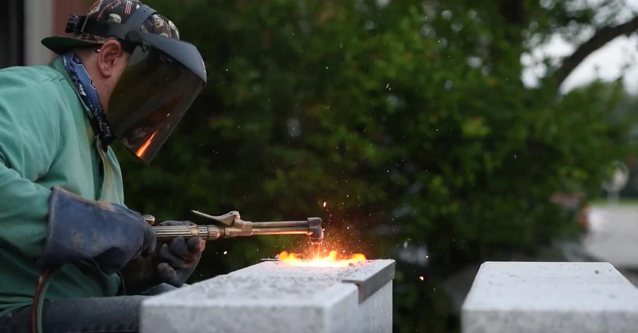Greg Ondo welding