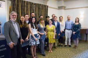 group photo of senior award recipients