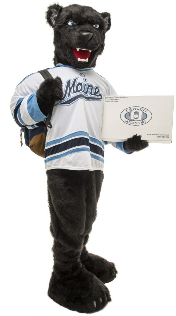 Bananas the bear with bookstore box