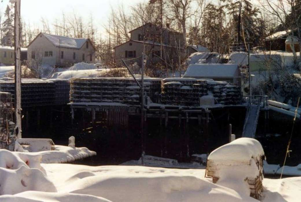 Winter Comes to Bunkers Harbor, Maine – 12/2002