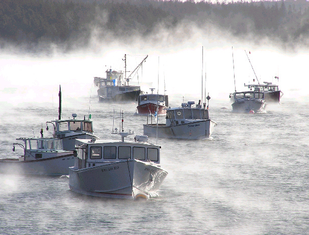 Winter Harbor in Winter – 3/2005