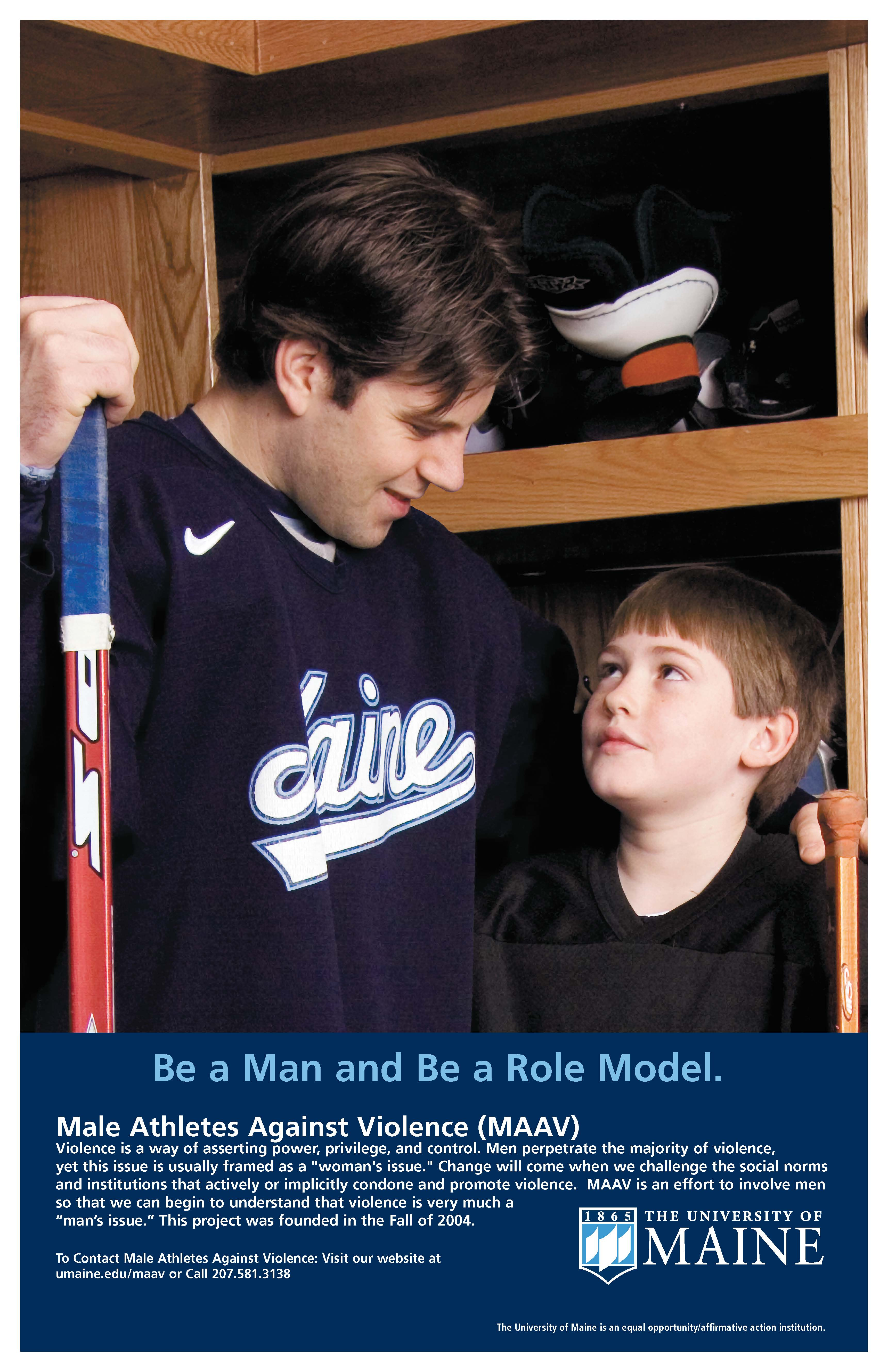 Poster: Be a Man and Be a Role Model.