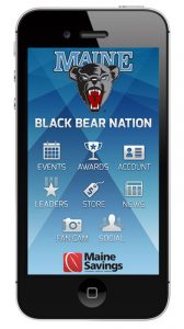 Black bear nation app on an iPhone