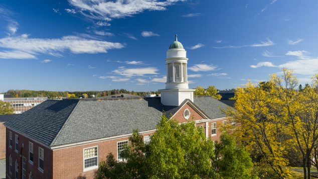 Aerial view of Stevens hall.