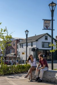 University of Maine students in downtown Orono Maine, MaineCard