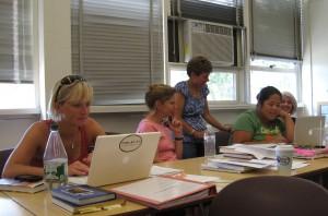 teachers working