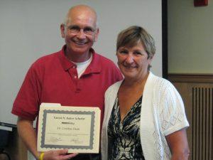 Dr. Cynthia Dean receiving award