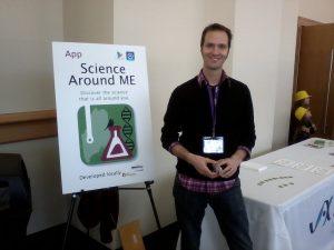 Jay at science festival