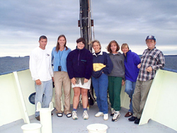 SMS graduate students at sea.
