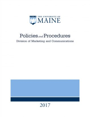 Cover image for UMaine Division of Marketing and Communications Policies and Procedures document