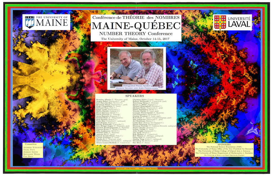 featured image for Maine/Québec Number Theory Conference