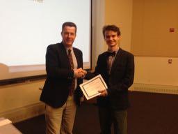 Nigel giving an award