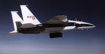NASA 836 Space Ship flying