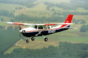 airplane Cessna type flying