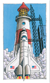 Rocket and light house illustration