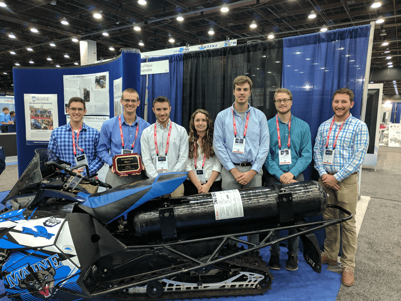featured image for UMaine Clean Snowmobile Team Brings Home 2nd from SAE World Congress