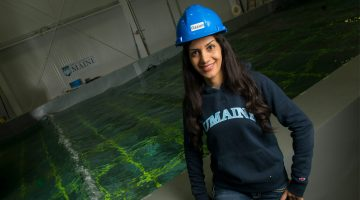 PhD student researching waves