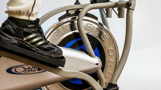exercising on an elliptical