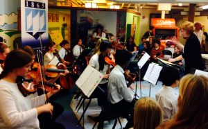 TEMPO youth string ensemble performing at the May 17, 2014 Downtown Bangor Public Humanities Day at the Discovery Museum.