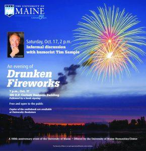 Drunken fireworks Maine Campus ad