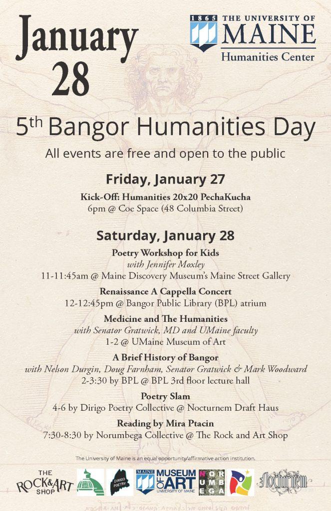 Bangor Humanities Day poster