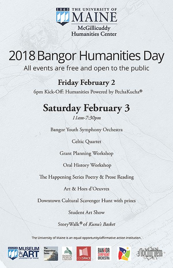 2018 Bangor Humanities Day poster