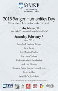 Bangor Humanities Day 2018 poster