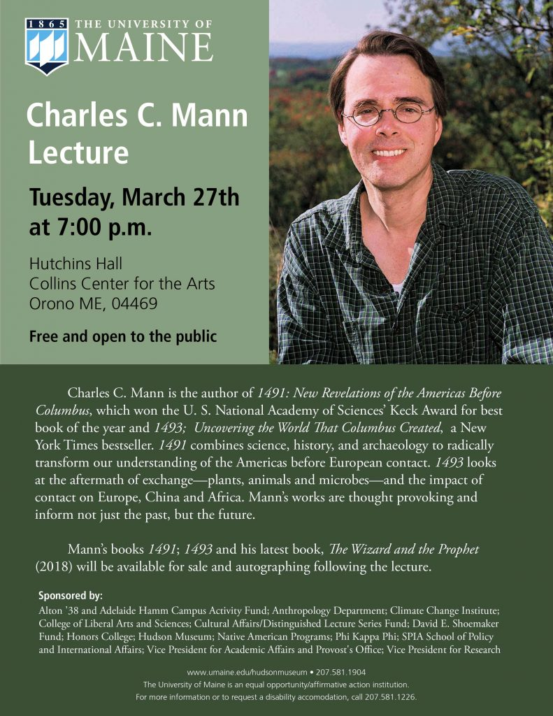 Charles Mann Lecture poster