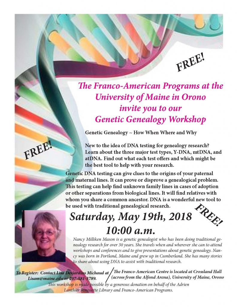 DNA Workshop Flyer