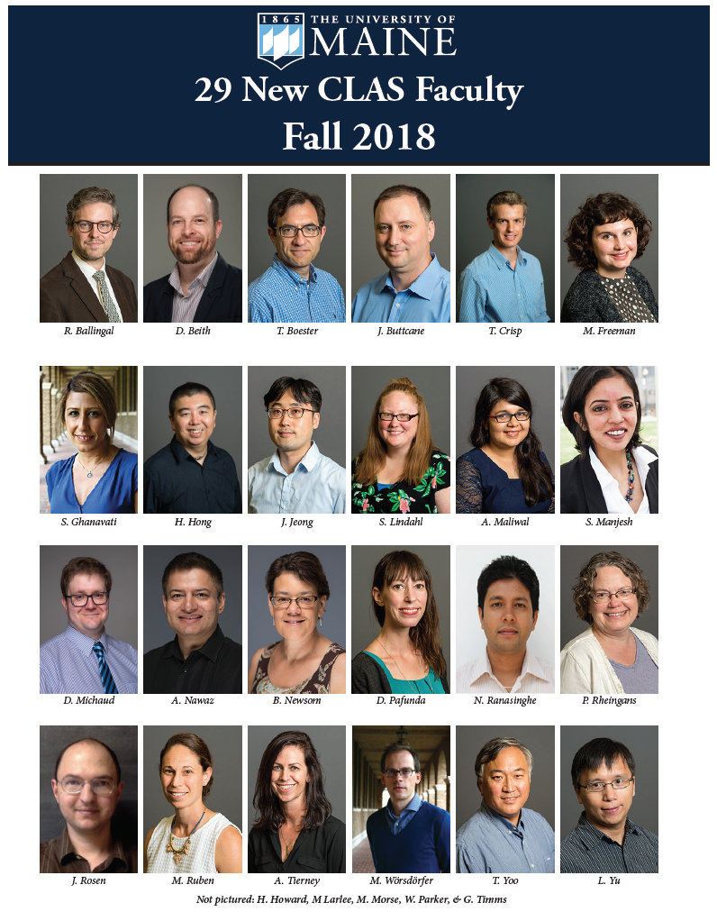 featured image for 29 new CLAS faculty hired in 2018