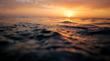 photo of sunrise over ocean