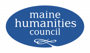 maine humanities council logo on blue background