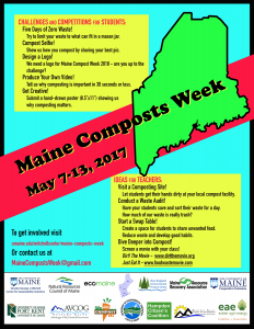 Maine Compost Week student, teacher flyer