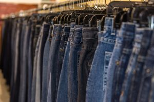 Rack of jeans